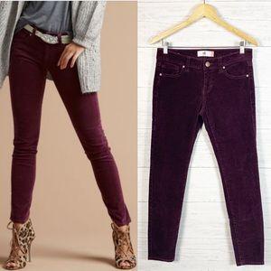 CAbi • Corduroy Skinny Pants in Vino #3197 Sz 4